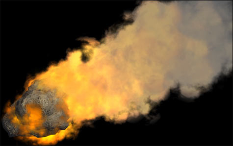 flaming asteroid hitting the earth - photo #13
