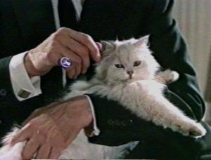 Blofeld in FROM RUSSIA WITH LOVE.  His face is never shown.