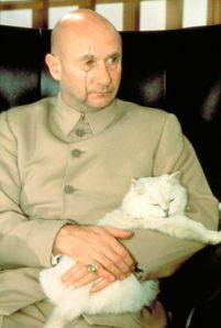 Donald Pleasance as Blofeld in YOU ONLY LIVE TWICE