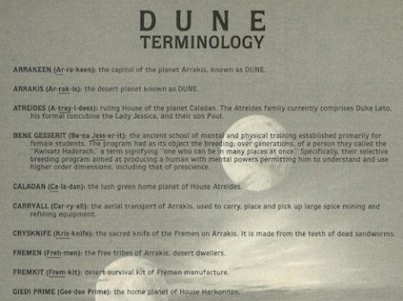 dune cheat sheet