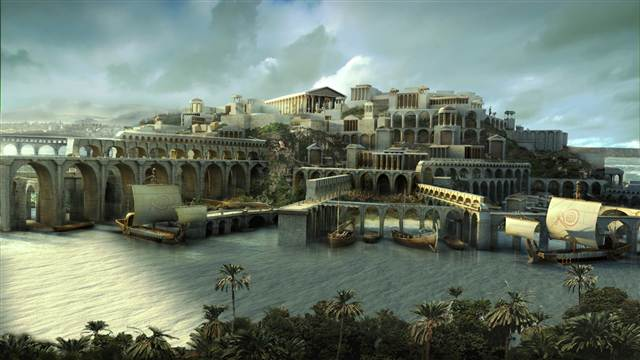 the lost city of atlantis Atlantis, paradise island features the world's largest open-air marine habitat aquaventure, a 141-acre water park, including the iconic mayan temple's leap of faith.