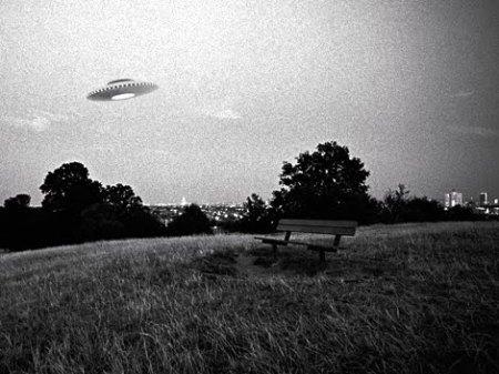 UFO Park Bench