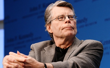"Stephen King Reads From His New Fiction Book ""11/22/63: A Novel"" During The ""Kennedy Library Forum Series"""